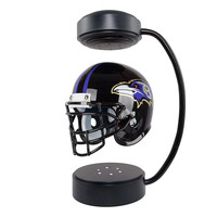 NFL Collectible Levitating Football Helmet with Electromagnetic Stand