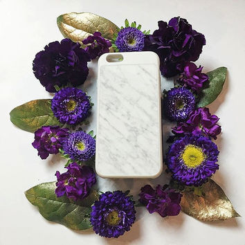 Marble iPhone Case - Made with Real Marble! Comes in White Marble + Black Marble. Luxe + Lightweight. High Fashion Accessory.