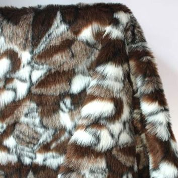 luxury faux fur DIY garment toy handmake material crazy stone artificial wool fabric