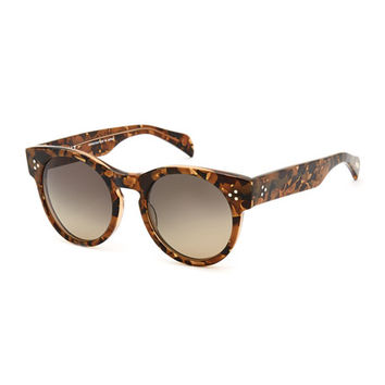 SALT. Wilcox Round Polarized Sunglasses, Tortoise