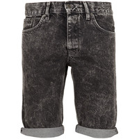 TOPMAN Black Acid Wash Shorts