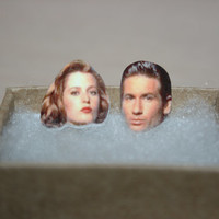 Mulder and Scully X-Files Post Stud Earrings Celebrity Inspired Jewelry