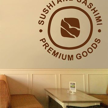 ik2763 Wall Decal Sticker Asian food sushi Japanese restaurant stained glass