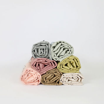 Linen Handtack Blanket - variety of colors