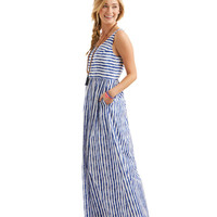 Painted Stripe Maxi Dress