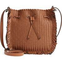 Michael Kors Maldives Woven Frayed Leather Crossbody Bag | Nordstrom