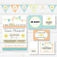 Girl Baby Shower Party Package - Favorite Things Party - DIY Baby Shower - Party Printables