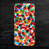 Water Color Drops on Canvas iPhone 4 and 5 Case