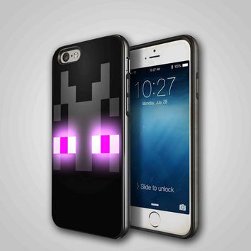enderman minecraft iPhone 4/4S, 5/5S, 5C Series Hard Plastic Case