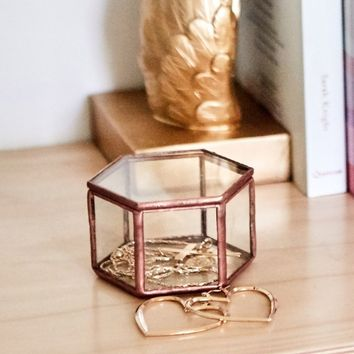 Geotag jewellery box in rose gold Produced By SHOWPO