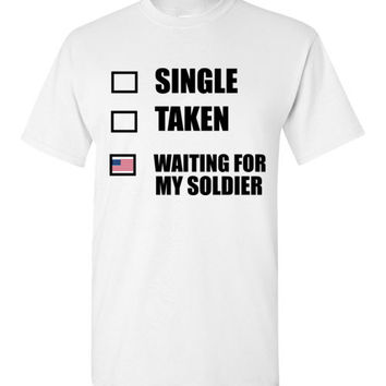 Single Taken Waiting for My Soldier USA