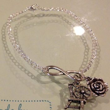 Rumbelle Silver Infinity Bracelet Inspired by Once Upon A Time on ABC