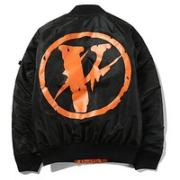 VLONE MA-1 Bomber jacket men winter baseball trench coat windbreaker parka military tactical autumn clothes skateboard hip hop Kanye west