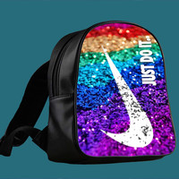 Nike just do it with glitter for Backpack / Custom Bag / School Bag / Children Bag / Custom School Bag *