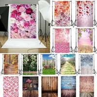 Fashion Photography Background Fabric Flower Wall Floor Photo Studio Backdrop Decor