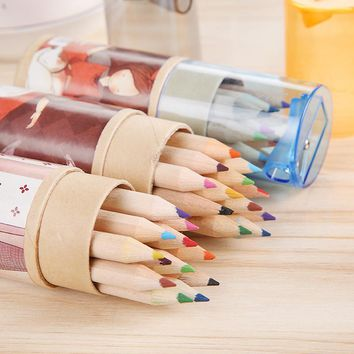 12-PCS 12-Colors Artist Professional Fine Drawing Painting Sketching Writing Drawing Pencil Box Cases MIni Stationary