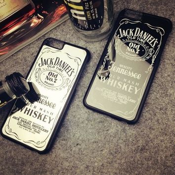2018 Jack Daniels Mirror Surface Phone Case Hard PC Back Cover for iPhone 5 5S SE / 6 6S / 6 Plus 6S Plus 7 7Plus
