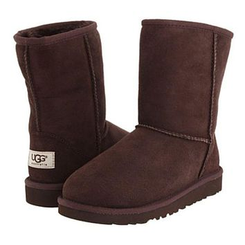 UGG Fashion Women Men Personality Winter Warm Snow Boots Shoe Dark Coffee I