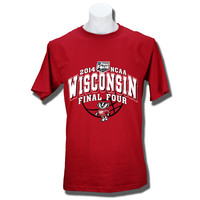 JanSport T-shirt Arched Wisconsin Final Four 2014 (Red) | University Book Store