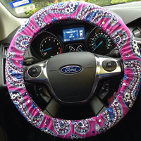 Steering wheel cover - Vera Bradley - Boysenberry