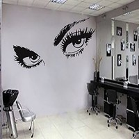Beautiful Eyes Big Eye Lashes Wink Decor Wall Art Mural Vinyl Decal Stickers Interior Design Ah182