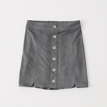 girls faux suede a-line skirt | girls clearance | Abercrombie.com
