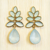 Cerulean Frost Pine Earrings
