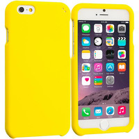 Yellow Hard Rubberized Case Cover for Apple iPhone 6 6S (4.7)