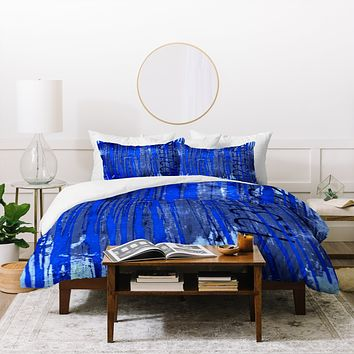 Sophia Buddenhagen Blue Numbers Duvet Cover