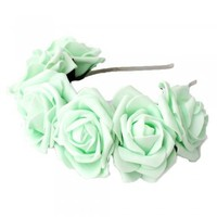 Pretty Junk | Pretty Junk Mint Sweetheart Rose Crown at Spoiled Brat