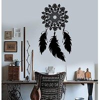 Vinyl Wall Decal Dream Catcher Bedroom Ethnic Decor Dreamcatcher Stickers Unique Gift (ig3546)