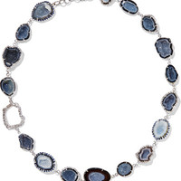 Kimberly McDonald - 18-karat white gold multi-stone necklace