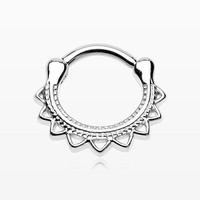 Tribal El Sol Septum Clicker Ring