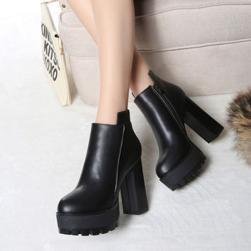 On Sale Hot Deal Shoes High Heel Waterproof Boots [9432936394]