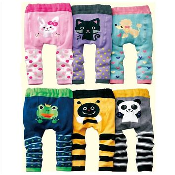 Hooyi baby girl pants boys Clothes Diaper Cover Panties Newborn Underpants leggings Long Trouser Animal Pantyhose