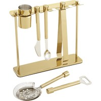top shelf bar tool set with stand