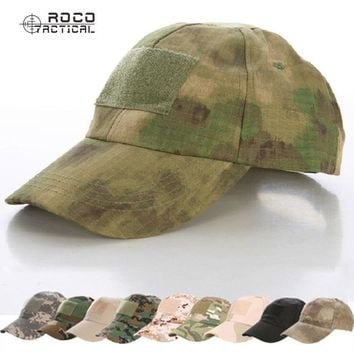 ROCOTACTICAL Military Hats Camouflage Tactical Army Fan Bionic Camping Hiking Cap Cadet Army Fan Outdoor Sports Cap CP ACU ATACS