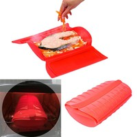 Silicone Healthy Cooking Box  Steam Cooking Tools Cookware Lunch Box Healthy Steamers & Steam Cooking Tools Steam Case
