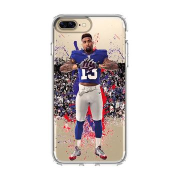 ODELL BECKHAM JR GIANTS 3 iPhone and Samsung Galaxy Clear Case