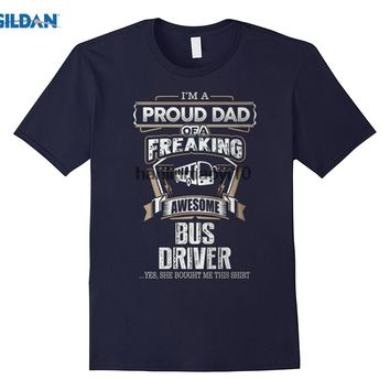 I'm A Proud Dad Of A Freaking Awesome Bus Driver T-Shirts - Men's Tee