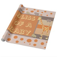 Savage Safari Bliss of a Baby Wrapping Paper