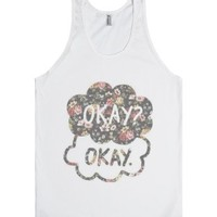 The Fault In Our Stars (Floral)-Unisex White Tank