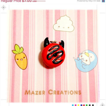 Black Friday Cyber Monday Devlish Donut Pendant Polymer Clay Kawaii