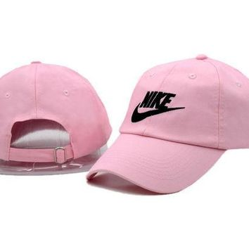 DCCKUNT Fashion Pink Nike Embroidered Baseball Cap Hat