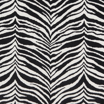 Black And White, Zebra Print Microfiber Upholstery Fabric