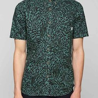Vans Animal Button-Down Shirt- Green