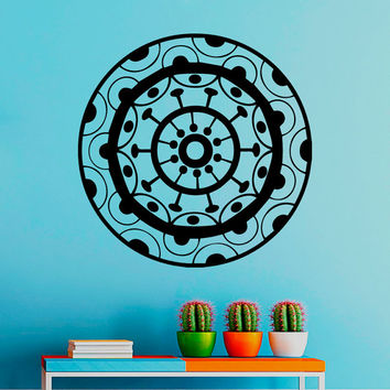 Flower Wall Decals Mandala Circles Om Yoga Pattern Oum Sign Living Room Interior Vinyl Decal Sticker Art Mural Bedroom Kids Room Decor MR375