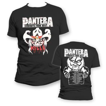 Pantera Cowboy From Hell Kills - Mens Black T-Shirt