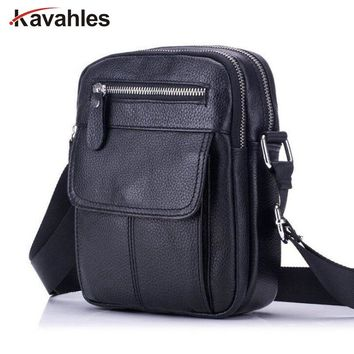 Genuine Leather Bag Men Messenger Bags Men's Crossbody Bag Small sacoche homme Satchel Man Cow Leather Shoulder Bags PP-1061