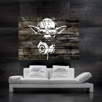 MASTER YODA  starwars  Wall print Poster art print huge photo star han solo